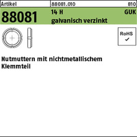 ART 88081 Nutmu. 14 H GUK 1/M 12 x 1 gal Zn, mit Klemmteil gal Zn VE=S (10 Stück)