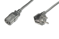 Mains connection cable, Schutzkontakt 90° angled - C13