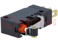 Mikrospínač SNAP ACTION; s páčkou (s kladkou); SPDT; 5A/250VAC