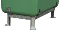 Fußgestell,f. 1100l GFK-Großbehälter,H m. Behälter 940mm