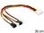 Stromkabel 4 Pin Molex Stecker an 4 x 2 Pin Lüfter Stecker, Delock® [83343]