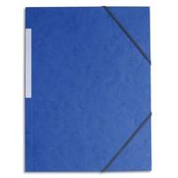 5 ETOILES Chemise simple à élastique en carte lustrée 5/10eme 390g. Coloris bleu. Dimensions 24x32cm