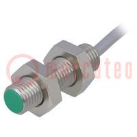 Senzor: indukčný; Konf.výstupu: PNP / NO; 0÷2mm; 10÷30VDC; M8; IP67