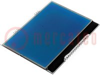 Display: LCD; grafisch; STN Negative; 160x104; blau; 78x60,96mm