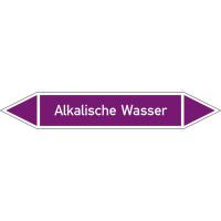 Rohrleitungskennz/Pfeilschild Bogen Gr7 Laugen(violett), Folie gest,7,5x1,6cm Version: P7012 DIN 2403 - Alkalische Abwasser P7012