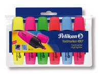 Pelikan Textmarker 490/6, nachfüllbar, sortiert, Etui mit 6 Stiften