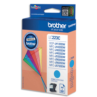 BROTHER Cartouche Jet d'encre Cyan LC223C