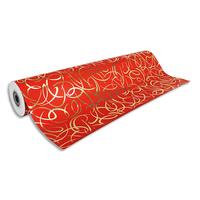CLAIREFONTAINE Rouleau papier cadeau Arabesque Premium 80g. Dimensions 50 x 0,70m. Coloris Rouge motif or