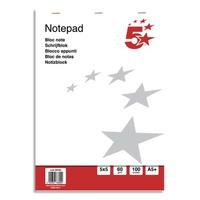 5 ETOILES Bloc de bureau 60g 15x21cm (A5+) 200 pages 5x5. Feuilles détachables. Couverture papier