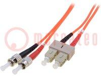 LWL-Patchkabel; OM2; SC/PC, ST/PC; 2m; LSZH; Farbe: orange