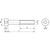 Skizze zu ISO4762 12.9 M 3x 6 verzinkt Zylinderschraube mit Innensechskant (DIN 912)