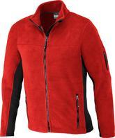 Mens Workwear Fleece Jacket Gr4XL,rot/schwarz
