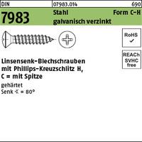 DIN 7983 Stahl 3,9 x 25 -C-H galv. verzinkt passiviert gal Zn S
