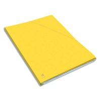 ELBA Chemise Eurofolio Alpina, dos de 1,5 cm, carte lustrée 5/10e jaune