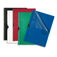 5 ETOILES Paquet de 25 chemises de présentation à clip, Capacité 30 feuilles. Coloris bleu foncé.