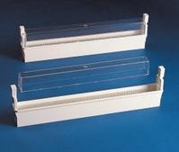 Slide storage system-ABS Description Microscope slide support for 100 slides Width 38 mm Length 360 mm Height 100 mm