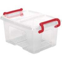 Office Depot Opbergdoos Transparant plastic 9,5 x 12,5 x 7 cm