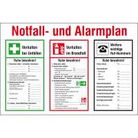 Aushang, Kunststoff, Notfall- und Alarmplan, 60,0 x 40,0 cm