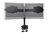 Dual Monitor Ständer,klemmen Basis,schwarz, 20° schwenkbar,rotierbar 90°,max gew. 15kg 24'-32' TFT,neigbar 15° Digitus® [DA-90321]