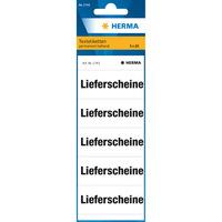 Inhaltsschild Textetiketten Ordnerrücken, Lieferscheine, weiss, 100 Etiketten