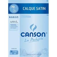 CANSON Pochette de 10 feuilles papier calque satin 70g A3 Ref-17151