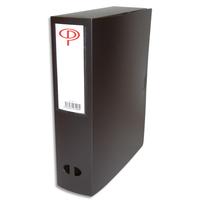 5 ETOILES Boîte de classement dos de 8 cm, en polypropylène 7/10e noir