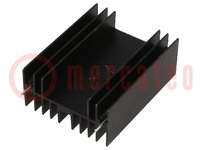 Radiator: gepresst; TO220,TO247; schwarz; L:50mm; W:40mm; H:20mm