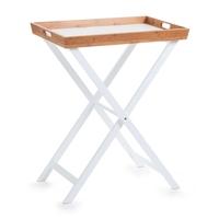 Zeller Beistelltisch, Tablett abnehmbar, MDF/Bamboo 60x40x72 cm