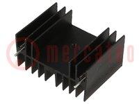 Koellichaam: geperst; TO220,TO247; zwart; L:30mm; W:40mm; H:20mm