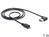 Anschlusskabel USB 2.0 EASY Stecker A an micro Stecker B, gewinkelt, schwarz, 1m, Delock® [83382]