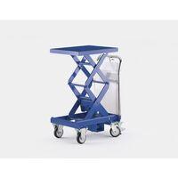 Dwunożycowy podnośny wózek stołowy, niebieski gencjanowy