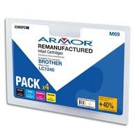 ARMOR Cartouche compatibilité BROTHER PACK 4C LC1240 B10351R1