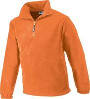 Sweatshirt HalfZip,FleeceGröße 2XL, orange