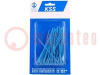 Kabelbinder; L:100mm; W:2,5mm; polyamide; 78,5N; blauw; 100st.