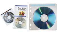 hama CD-/DVD-Hülle, für 2 CD's/DVD's, PP, transparent (1648444)