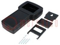 Behuizing: voor apparatuur met display; X:110mm; Y:210mm; ABS