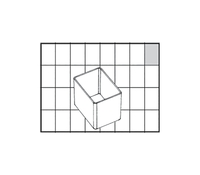 Raaco Insert Storage Solution for Small Parts Robust Polypropylene Transparent Ref 100274 [Pack 96]