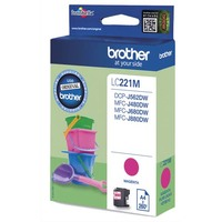 BROTHER Cartouche Jet d'encre Magenta LC221M