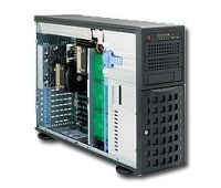 Intel based 4U/HE Tower Supermicro SuperServer 7046A-HR+ (black)