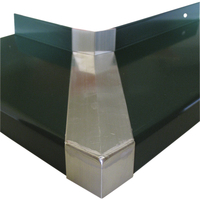 Produktbild zu Verbinder Standard 25 mit Dichtteil Alu anthrazit lackiert 90° Außenecke 225 mm - Verbinder für Außenecke, 90 Grad