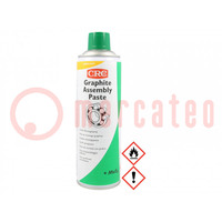 Mazivo; aerosol; Složení: molybdylen disulfid, grafit; kelímek