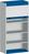 Produktbild - cubio Rollladenschrank bestückt mit 4 Fachböden BxTxH: 1050x650x2000mm RAL 7035/5010