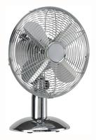 5 Star Facilities Desk Fan Oscillating 48.5Db 3 Speed 45 Watts H425mm Dia.305mm Chrome