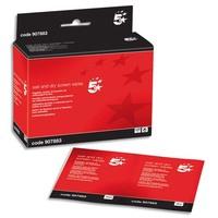 5 ETOILES Boîte de 20 duos lingettes sèches et humides pour écrans, filtres et surface vitrées 20450006