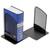 ALBA Lot de 2 Serre-livres en métal Noir Mesh - Dimensions L13 x H16 x P13 cm