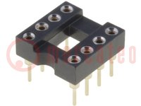 Sockel: DIP; PIN:8; 7,62mm; vergoldet; ØAusg:0,5mm; 1A; THT