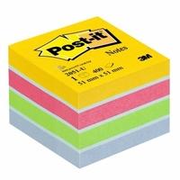Kostka Post-it® MINI, 51 x 51 mm, 400 lístků, ultra barvy