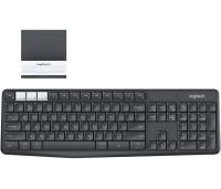 Logitech K375s toetsenbord RF-draadloos + Bluetooth QWERTY US International Grafiet, Wit