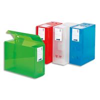 VIQUEL Boite de classement MAXIDOC, en polypropylène 12/10ème, dos de 12cm, coloris assortis translucide