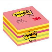 Bloček kocka Post-it 76x76 neónová ružová mix